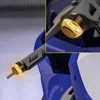 lamp dc 12v Motorcycle LED Handlebar End Turn Signal Light DC 12V White Yellow Flasher Handle Grip Bar Blinker Side Marker Lamp (5)