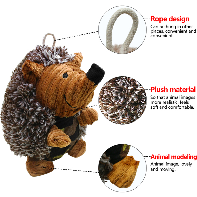 Dog Squeak Sound Toy Interactive Plush Dogs Toys  for Play Funny Training