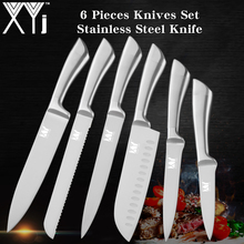 XYj Japanese 7Cr17 Stainless Steel Kitchen Knife Ultra Sharp Blade Chef Knives Set Sushi Sashimi Vegetable Bread Fruit