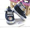 2016 Spring Infant Prewalker Toddler Plaid Collar Soft Sole Shoes Baby Boy Shoes Kids Denim Cool Boy Baby First Walkers
