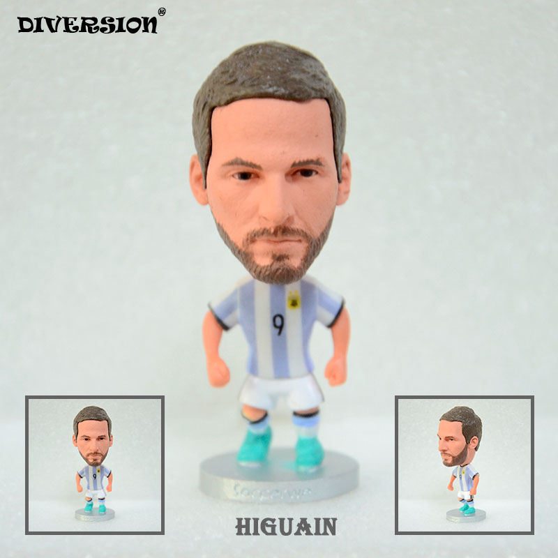 DIVERSION dolls figurine football stars Higuain ARG 16-17 Movable joints resin model toy action figure dolls collectible gift