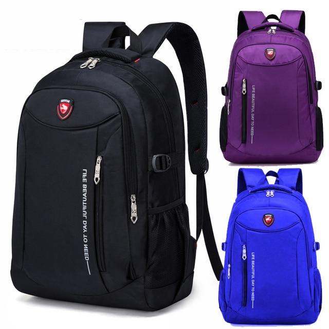 Sac à dos multifonctionnel pour hommes, sac à dos en Nylon dans une variété de couleurs, grande capacité, ordinateur, voyage et loisirs