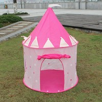 New Pop Up Play Tent Kids Girl Princess Castle Outdoor House Tent Portable Pink Children Gifts