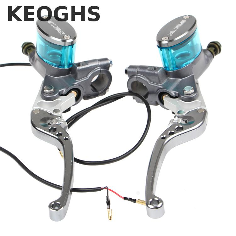 Keoghs Motorcycle Brake Master Cylinder Lever 13mm Piston For Yamaha Scooter Honda Kawasaki Suzuki 125cc 150cc 100cc Dirt Bike keoghs motorcycle floating brake disc 240mm diameter 5 holes for yamaha scooter