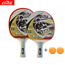 CIMA Table tennis racket with bag for beginner Shake-Hand Ddouble Pimples-in rubber Ping Pong Racket table tennis rackets [playa pingpong] customizable stiga 190 sturcture table tennis rackets for ping pong 7 layers