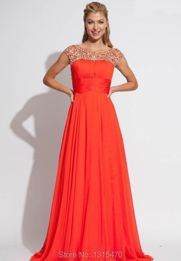 Online Get Cheap Modest Orange Prom Dress -Aliexpress.com ...