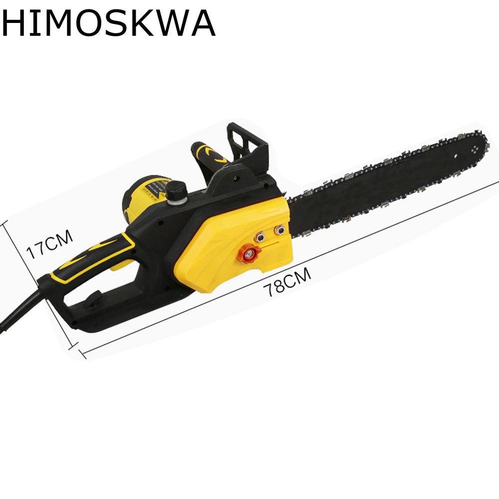 HIMOSKWA Electric Chain Saws 1800W Chainsaw  Logging Chainsaw Household Wood Chainsaw cutting machine free shipping electric chain saw timber carpentry high power electric chain saws wood