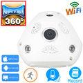Câmera panorâmica ip 720 p hd ipcam wi-fi cam panorama 360 camara cctv da segurança home sem fio infravermelho apoio cartão micro sd