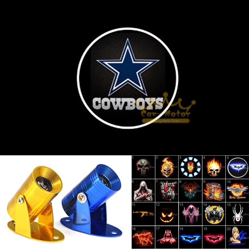 Dallas Cowboys Logo Motorcycle Laser Projector Ghost Shadow LED Logo Light  (3028)(China