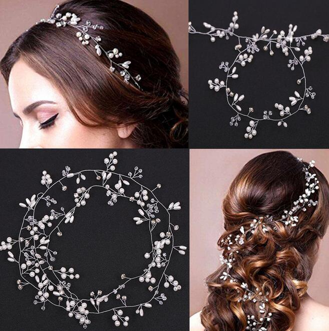 2018 New Wedding Headband Head Crowns Flower Party Wedding Hair Accessories For Women Bridal Crown Bride Tiara Romantic