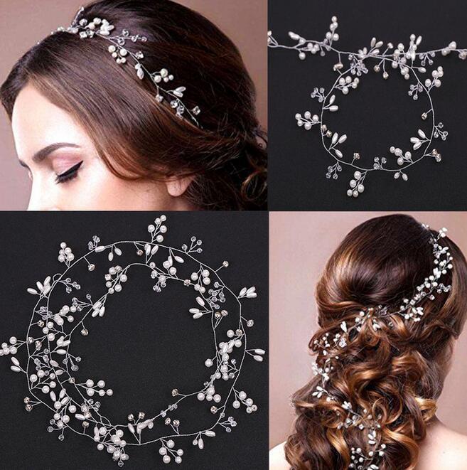 2018 New Wedding Headband Head Crowns Flower Party Wedding Hair Accessories For Women Bridal Crown Bride Tiara Romantic