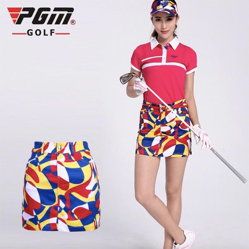 2017 New women summer plaid skirt golf PGM brand sports skirt shorts pants leisure sport printing short skirt golf dress XS-XXL