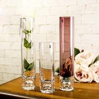 NewBottle bottom bubble straight Transparent glass vase hydroponic flower implement crystal vase home decor Tabletop Vase