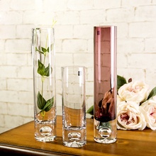NewBottle bottom bubble straight Transparent glass vase hydroponic flower implement crystal home decor Tabletop Vase
