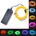 Luz de néon 2 m el light dance party car decor luz flexível lâmpadas de néon el wire rope tubo à prova d' água tira conduzida com o controlador
