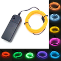 Neon Light 2M EL Light Car Dance Party Decor Light Flexible Neon lamps EL Wire Rope Tube Waterproof LED Strip With Controller
