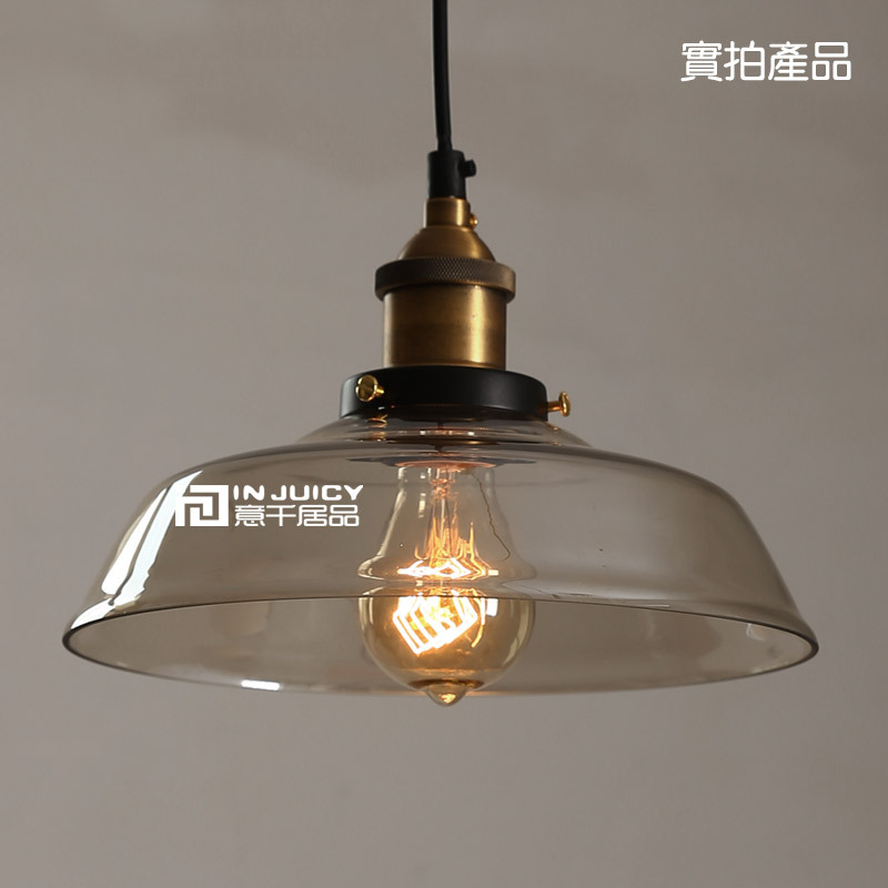 Vintage Loft Industrial Edison Ceiling Lamp Glass Pendant DropLight Bar Cafe Stroe Hall Restaurant Lighting rh loft edison industrial vintage style 1 light tea glass pendant ceiling lamp hotel hallway store club cafe beside