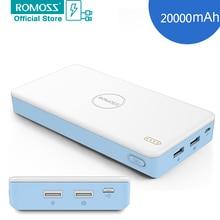 Romoss pb20xc 20000 мАч внешний блок батарей банк силы быстрого заряда 2.0 Power Bank для Телефона я 7 7 плюс для Таблеток смартфоны