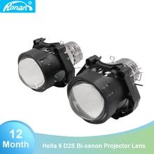 Ронан 3,0 дюймов hella 6 D2S Биксеноновые линзы прожекторного типа лампа для автомобильной фары используйте лампы d2s d2h без потерь качества установки автомобил