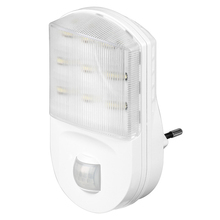 9 LED Plug in Night Light Lamp Motion Sensor Socket Hallway light LED Night lights Emergency Nightlight White MAYITR