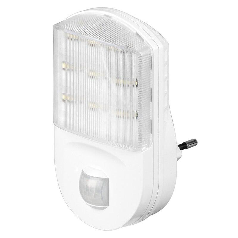9 LEVOU Plugue na Luz da Noite Da Lâmpada Soquete De Sensor De Movimento luz Do Corredor LEVOU luzes Da Noite de Emergência Nightlight Branco MAYITR