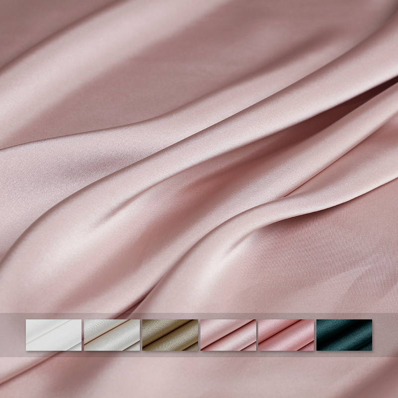 Pearlsilk Pure Colour Vertical Sense Double-sides Satin 100%polyester Materials Windcoat Pants DIY Clothes Fabrics Freeshipping