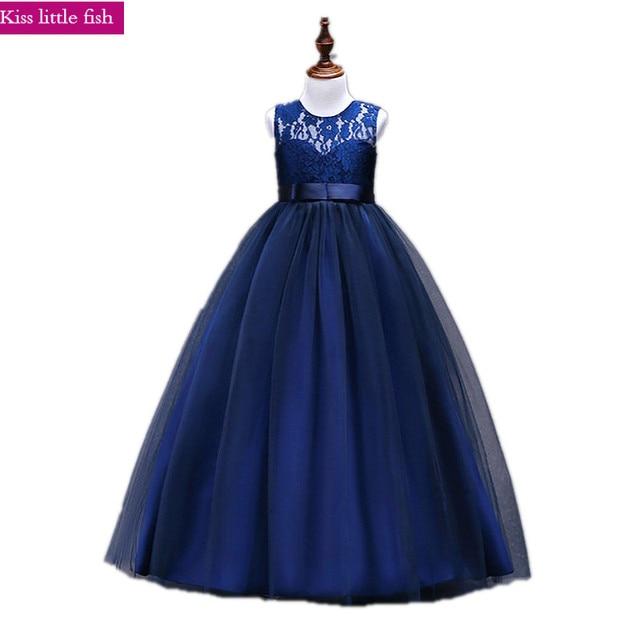 85b27a2efde Free shipping 2019 new arrive Flower girl dresses for weddings Elegant  floor length lace dress 3-14 age