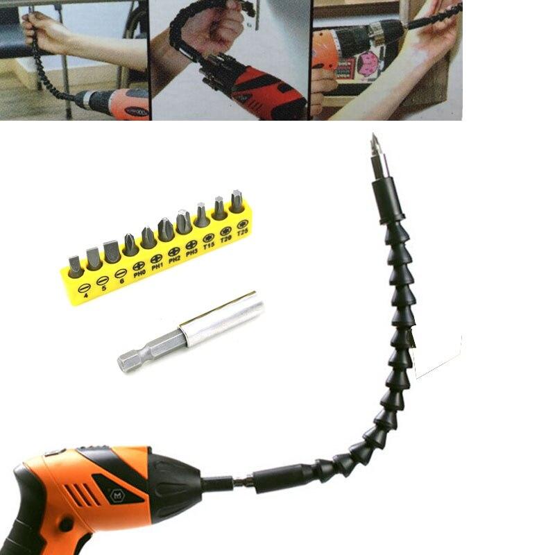 Universal Multifunctional Rod Adapter Electric Drill Bit Hand Screwdriver for Length Flexible Hose Tube Flexible Cardan Shaft цена и фото