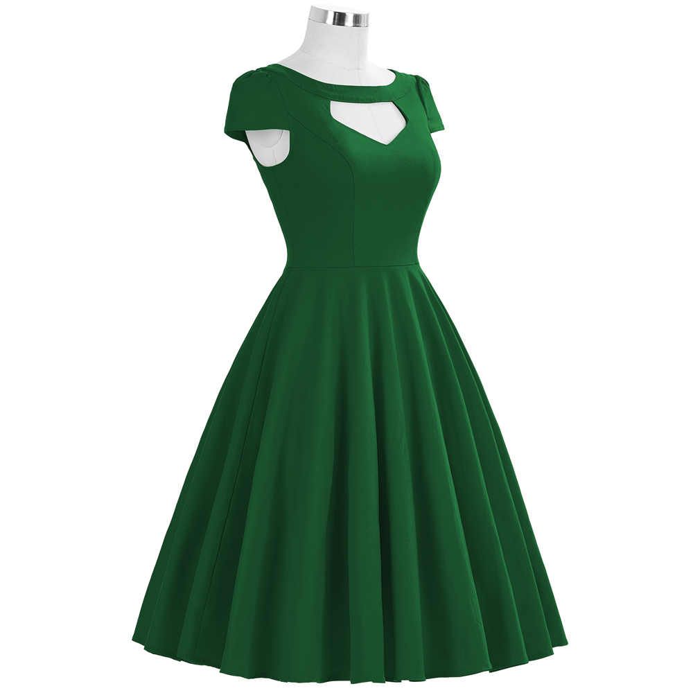 e0ba24f0130 ... Belle Poque Vintage 50s Dress Women Summer Audrey Hepburn Vestidos  Black Red Green Big Size Pinup ...