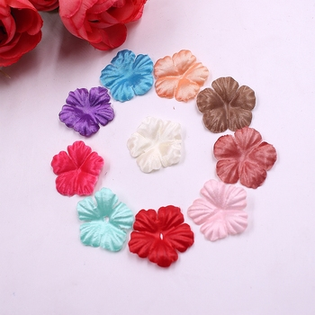 100pcs Artificial Flowers Roses Petal Leaf Silk For Wedding Home Decoration DIY Scrapbooking Flores Accessories Plant