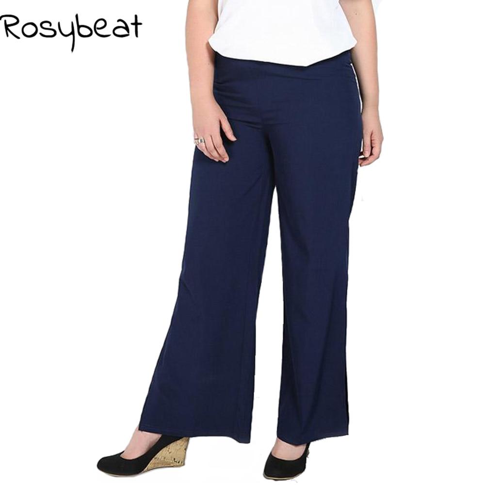 Wide     Leg     Pants   Women Plus Size 6xl 5xl Fashion Flare   Pants   Side Split   Pants   Trousers 4xl 3xl Casual Lady Big Size Clothes Black