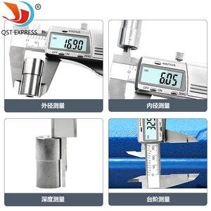 Image 3 - Suwmiarka cyfrowa 0 150mm 0.01mm ze stali nierdzewnej elektroniczne suwmiarki metryczne/calowe mikrometr narzędzia pomiarowe