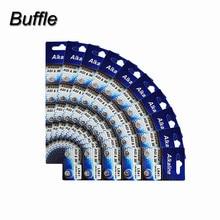 10cards/100pcs Buffle 1.5V AG3 LR41 Batteries 392A SR41SW LR736 392 SR736 Alkaline Cell Button Coin Battery