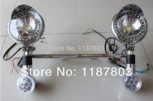 For Kawasaki LED Turn Signals Spot lights Bar Vulcan VN 750 800 900 1600 1700 Honda VT VTX Shadow Suzuki Yamaha Harley Softail