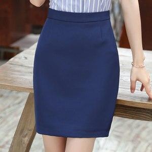 Image 1 - Spódnice damskie lato 2019 kobiet czarna spódnica Plus rozmiar kobieta wysokiej talii spódnica do biura moda kobiety odzież robocza Bodycon spódnice ołówkowe 5XL
