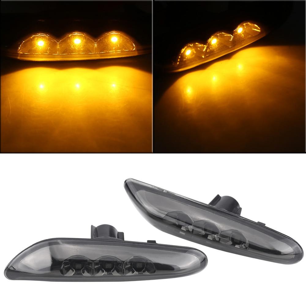 New 1 Pair Side Marker Turn Signal LED Light for BMW E82 E88 E60 E61 E90 E91 E92 E93 Smoke Car Lights new arrival 2x 24 led license plate number light lamp for bmw e39 e46 e60 e61 e70 e82 e88 e90 e91 m3