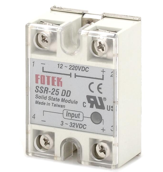 1 pcs SSR-25DD Single Phase Solid State Module Relay 25A DC 5-60V good quality SSR-25 DD  Wholesale ssr 40da single phase solid state relay white silver