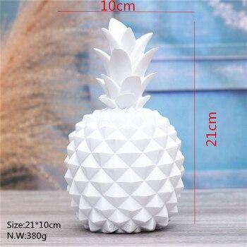 Tirelire ananas blanche détail
