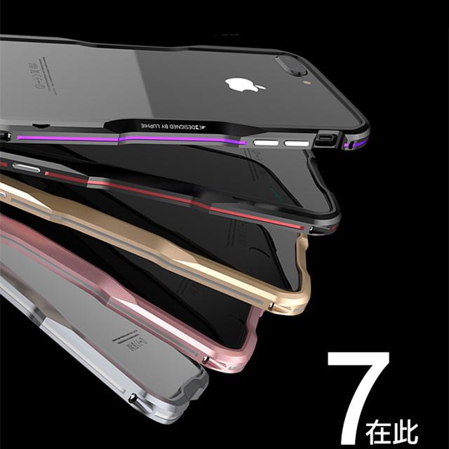 Luphie Bicolor Aluminum metal phone Bumper Case for iphone7 phone Frame Case for iphone 7 Cover cases