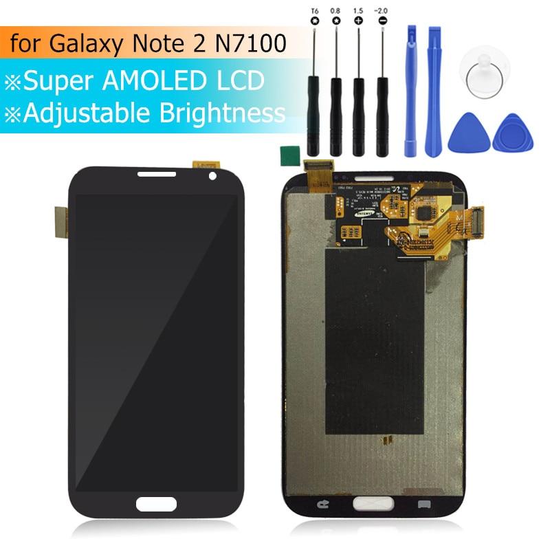 Pour Samsung Galaxy Note 2 LCD écran tactile numériseur assemblée LCD affichage pour Galaxy Note2 N7100 N7105 T889 i317 i605