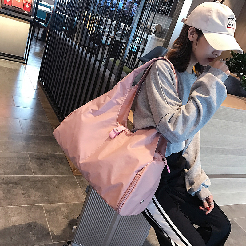 Oxford Women Travel Bags Waterproof Fitness Shoulder Bag Shoe Organizer Large Training Luggage Handbag Travel Bags For Women 08T in Travel Bags from Luggage Bags