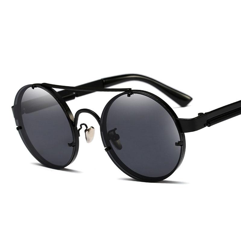 f77343df4f6 Pop Age Newest Best quality Round Steampunk Sunglasses Men Mirror Women Sun  glasses Spring Legs Eyeglasses Oculos de sol 400UV-in Sunglasses from  Apparel ...