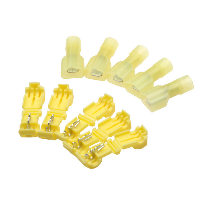 30/60/90Pcs Scotch Lock Quick Splice Terminals Combo 22-10 AWG T-Tap/Male Red Blue Yellow  Insulated Wire Connectors