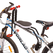 Mountain Bike front seat mat Steel PU leather waterproof Children bicycle safety chair