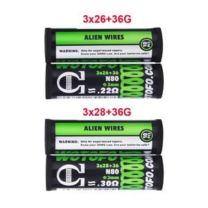 Image 5 - Bobina de Alien para accesorios de cigarrillo electrónico, 10 Uds./tubo Wotofo Ni80, bobina preintegrada, bricolaje, calefacción, Alien, Clapton, Rda