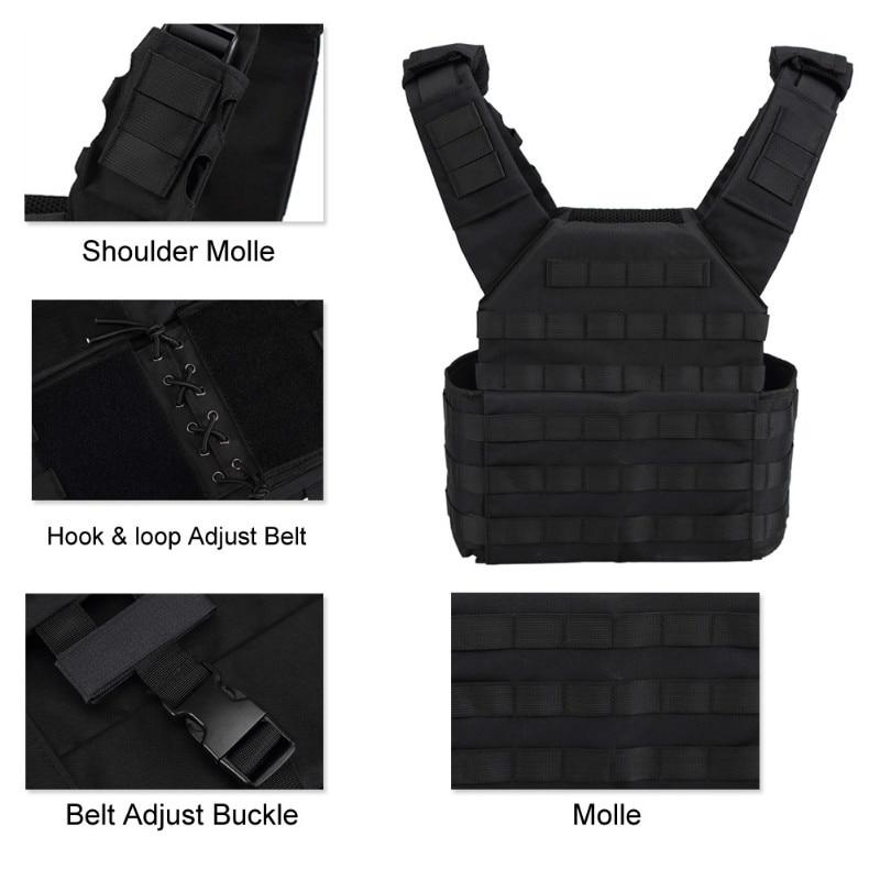 OneTigris Outdoor Kamizelka CS Sprzęt wojskowy 500D Nylon Cloth JPC - Ubrania sportowe i akcesoria - Zdjęcie 4