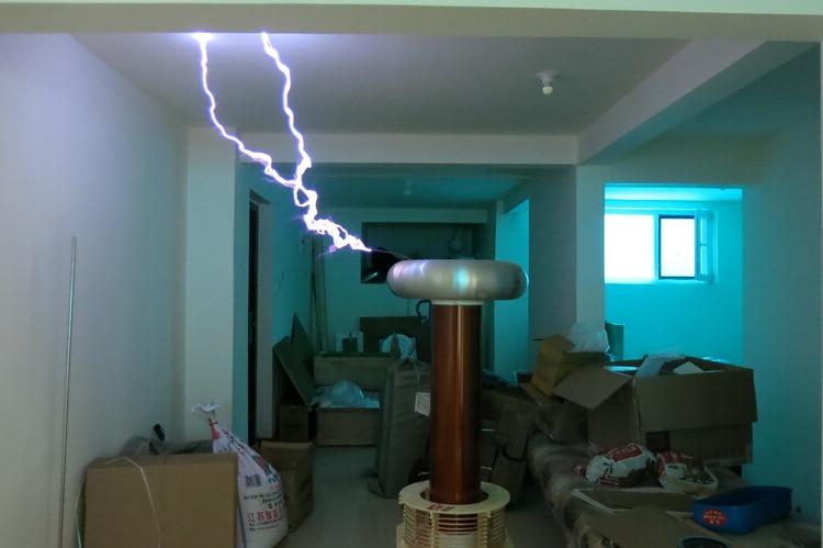 1,8 metros de altura Tesla bobina DRSSTC música tesla arco Flash Lightning equipo de laboratorio físico 1 metro de arco-in Equipo educativo from Suministros de oficina y escuela    2