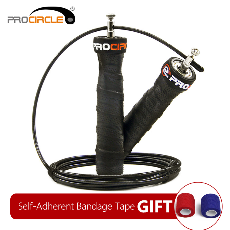 Crossfit Jump Rope Skip Speed & Weighted Jump Ropes with Extra Speed Cable Ball Bearings Anti-Slip Handle for Double Unders