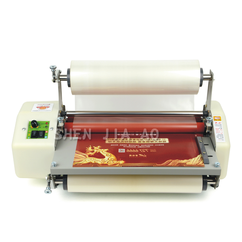 8350 A3+paper laminator machine Four Rollers laminating machine 13 Laminator cold roll laminator 220v 1pc a3 a4 roll laminator laminating machine 4 roller system photo laminator lk4 320 220v 300w cold laminator