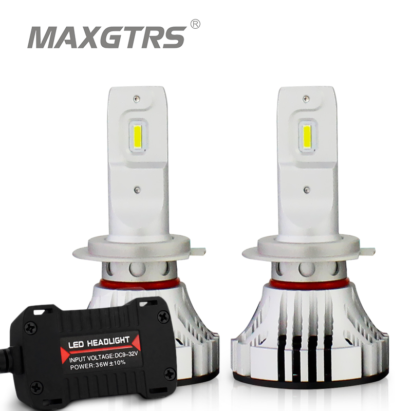 2x MAXGTRS H7 LED Bulb H4 HB2 9003 H8 H9 H11 HB3 9005 HB4 9006 Car